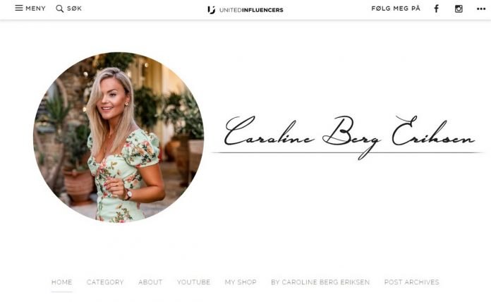 Omtale av bloggen Caroline Berg Eriksen