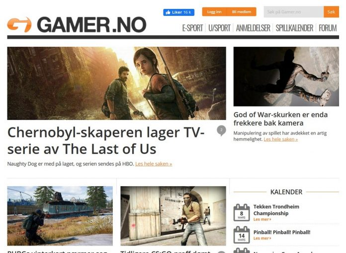 Anmeldelse av nettsiden Gamer.no