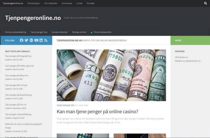 Anmeldelse av tjenpengeronline.no