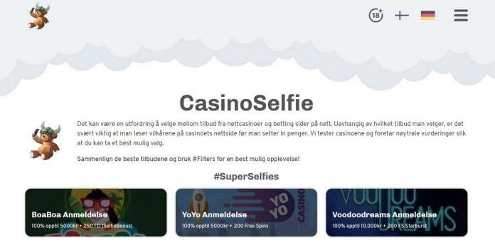Anmeldese av CasinoSelfie